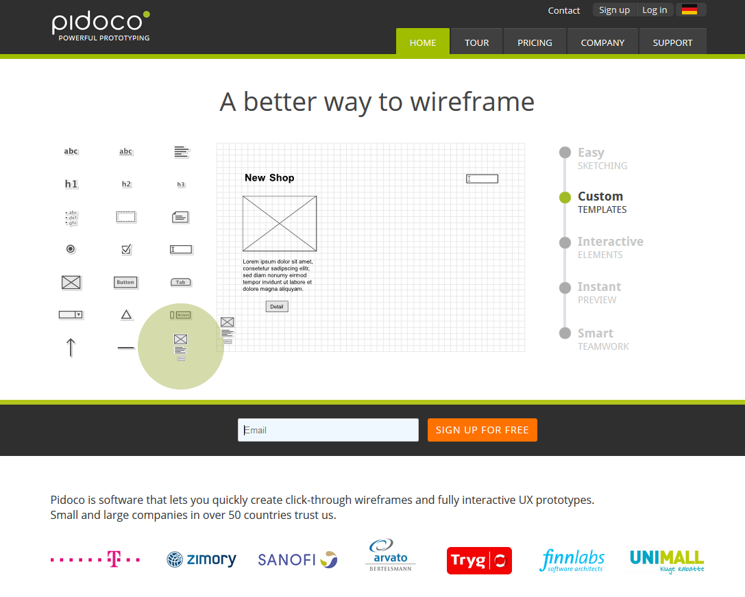 pidoco-maquettes-wireframe-application-mobile
