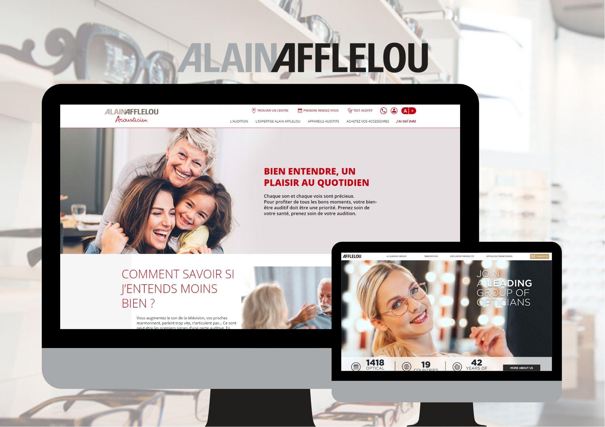 Refonte de site internet et développement web pour Afflelou